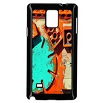 Sunburst Lego Graffiti Samsung Galaxy Note 4 Case (Black) Front