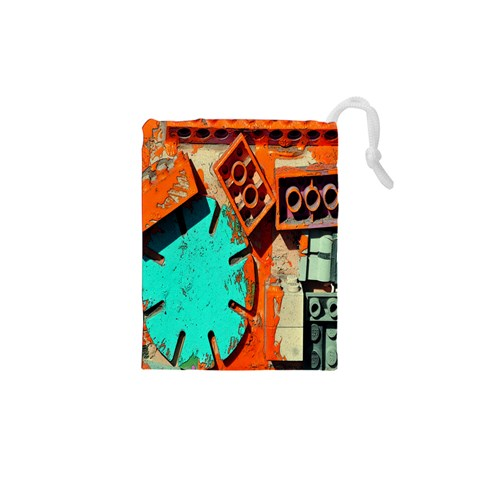 Sunburst Lego Graffiti Drawstring Pouches (XS)