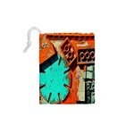 Sunburst Lego Graffiti Drawstring Pouches (XS)  Back