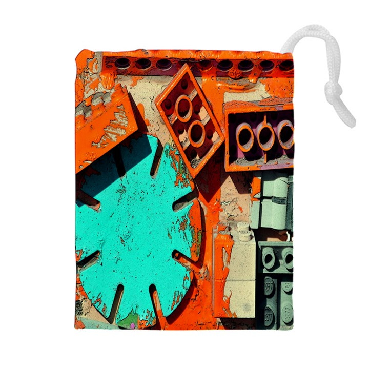 Sunburst Lego Graffiti Drawstring Pouches (Extra Large)