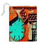 Sunburst Lego Graffiti Drawstring Pouches (Extra Large) Back