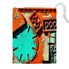 Sunburst Lego Graffiti Drawstring Pouches (XXL)