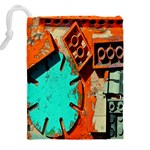 Sunburst Lego Graffiti Drawstring Pouches (XXL) Back