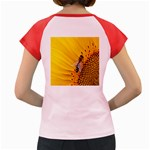 Sun Flower Bees Summer Garden Women s Cap Sleeve T-Shirt Back