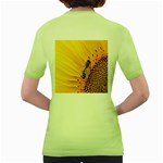 Sun Flower Bees Summer Garden Women s Green T-Shirt Back