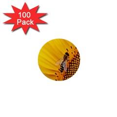 Sun Flower Bees Summer Garden 1  Mini Buttons (100 pack)