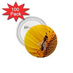 Sun Flower Bees Summer Garden 1.75  Buttons (100 pack)