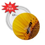 Sun Flower Bees Summer Garden 2.25  Buttons (10 pack)  Front