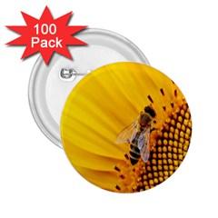 Sun Flower Bees Summer Garden 2.25  Buttons (100 pack)