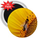 Sun Flower Bees Summer Garden 3  Magnets (10 pack)  Front