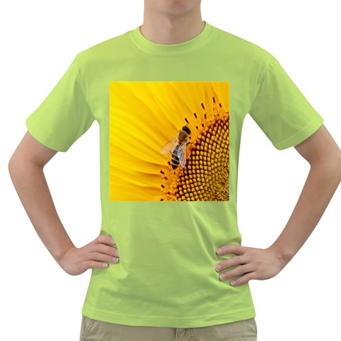 Sun Flower Bees Summer Garden Green T-Shirt