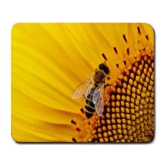 Sun Flower Bees Summer Garden Large Mousepads