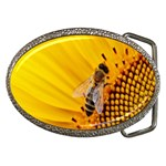 Sun Flower Bees Summer Garden Belt Buckles Front