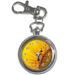 Sun Flower Bees Summer Garden Key Chain Watches Front
