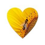 Sun Flower Bees Summer Garden Heart Magnet Front