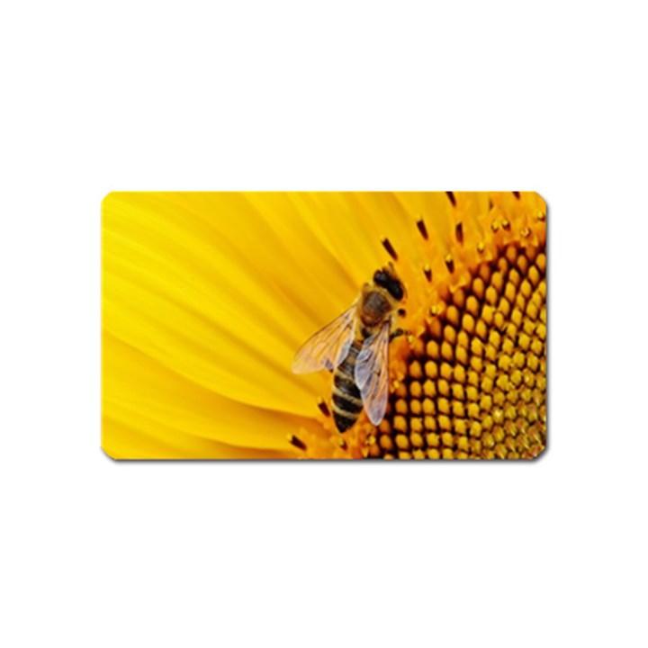 Sun Flower Bees Summer Garden Magnet (Name Card)