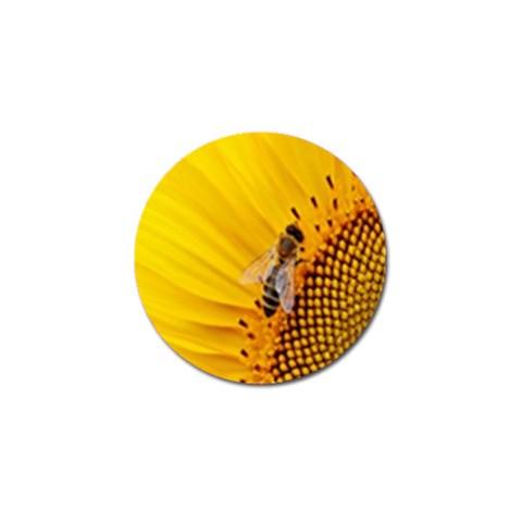 Sun Flower Bees Summer Garden Golf Ball Marker