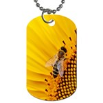 Sun Flower Bees Summer Garden Dog Tag (Two Sides) Front