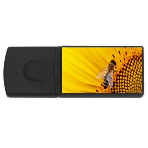 Sun Flower Bees Summer Garden USB Flash Drive Rectangular (1 GB)