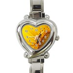 Sun Flower Bees Summer Garden Heart Italian Charm Watch Front