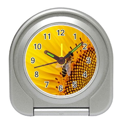 Sun Flower Bees Summer Garden Travel Alarm Clocks