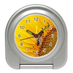 Sun Flower Bees Summer Garden Travel Alarm Clocks Front