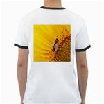 Sun Flower Bees Summer Garden Ringer T-Shirts Back