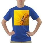 Sun Flower Bees Summer Garden Dark T-Shirt Front