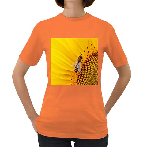 Sun Flower Bees Summer Garden Women s Dark T-Shirt