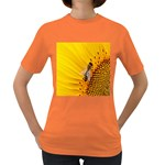Sun Flower Bees Summer Garden Women s Dark T-Shirt Front