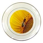 Sun Flower Bees Summer Garden Porcelain Plates Front