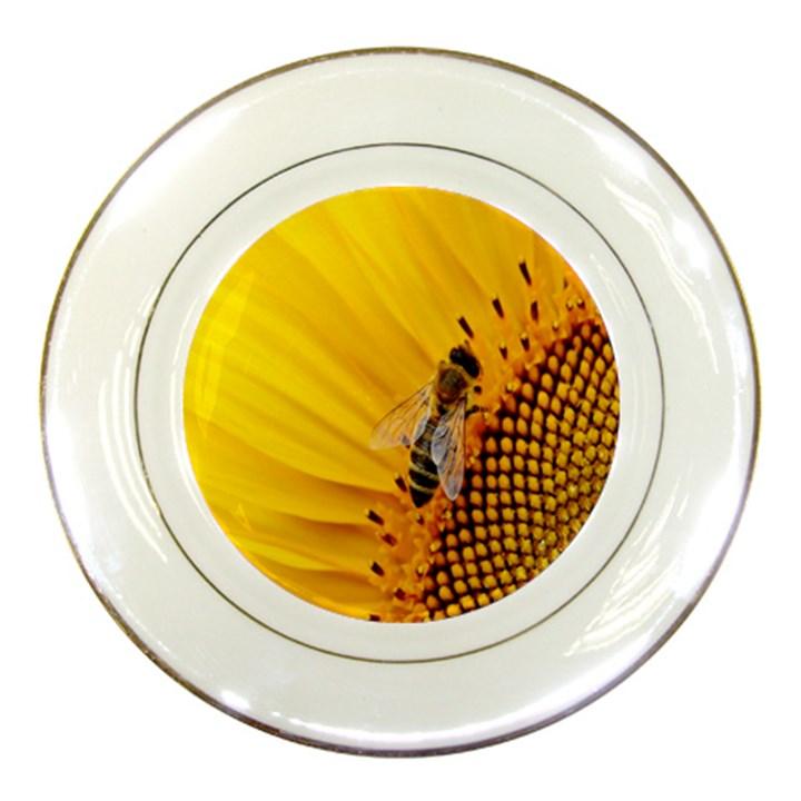 Sun Flower Bees Summer Garden Porcelain Plates