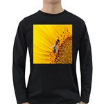 Sun Flower Bees Summer Garden Long Sleeve Dark T-Shirts Front