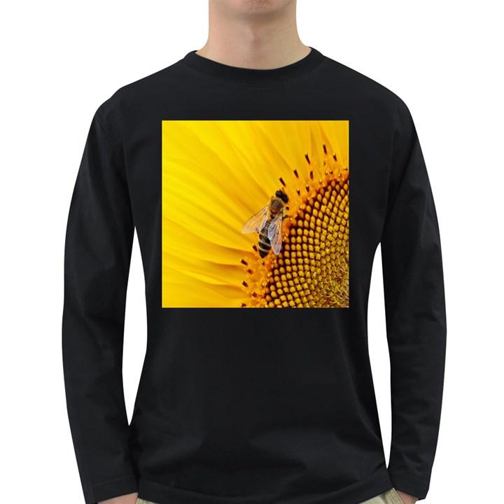 Sun Flower Bees Summer Garden Long Sleeve Dark T-Shirts
