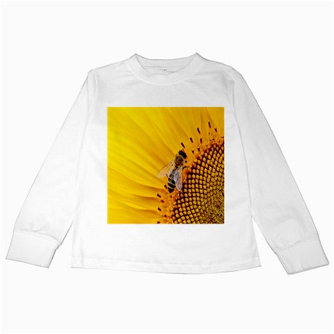 Sun Flower Bees Summer Garden Kids Long Sleeve T-Shirts