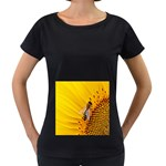Sun Flower Bees Summer Garden Women s Loose-Fit T-Shirt (Black) Front