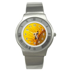 Sun Flower Bees Summer Garden Stainless Steel Watch