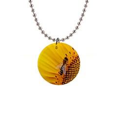 Sun Flower Bees Summer Garden Button Necklaces