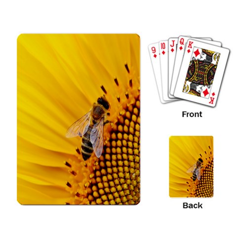 Sun Flower Bees Summer Garden Playing Card