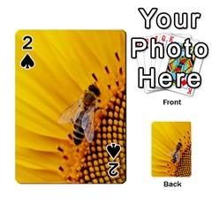 Sun Flower Bees Summer Garden Playing Cards 54 Designs