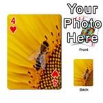 Sun Flower Bees Summer Garden Playing Cards 54 Designs  Front - Heart4