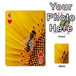 Sun Flower Bees Summer Garden Playing Cards 54 Designs  Front - Heart6