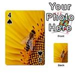 Sun Flower Bees Summer Garden Playing Cards 54 Designs  Front - Spade4