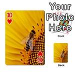 Sun Flower Bees Summer Garden Playing Cards 54 Designs  Front - Heart10
