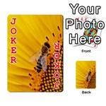 Sun Flower Bees Summer Garden Playing Cards 54 Designs  Front - Joker2