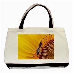 Sun Flower Bees Summer Garden Basic Tote Bag