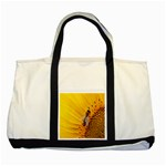 Sun Flower Bees Summer Garden Two Tone Tote Bag Front