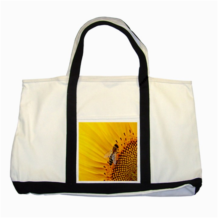 Sun Flower Bees Summer Garden Two Tone Tote Bag