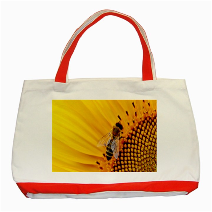 Sun Flower Bees Summer Garden Classic Tote Bag (Red)