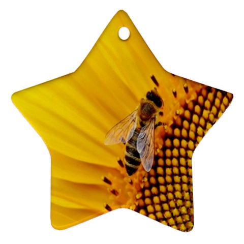 Sun Flower Bees Summer Garden Star Ornament (Two Sides)